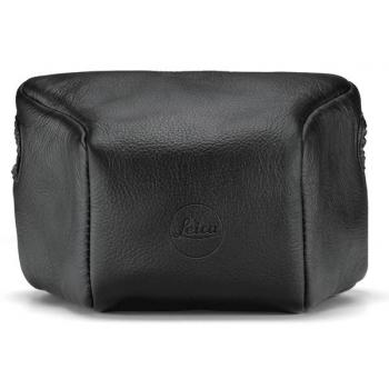 LEICA LEATHER POUCH BLACK SMALL FRONT 14893