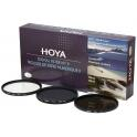 Kit de filtros HOYA de 37mm (UV - Polarizador Circular - Densidad neutra ND8)