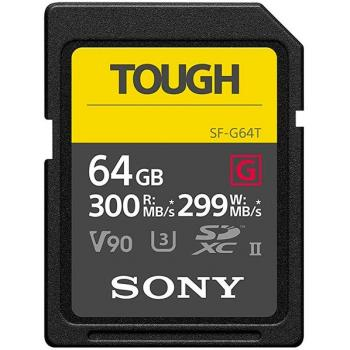 Sony TOUGH 64Gb - Tarjeta de memoria SD UHS-II SF-G64T