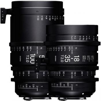 Sigma Cine Lens ZOOM 18-35mm T2 + 50-100mm T2 - Canon EOS