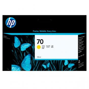 Tinta HP 70 cartucho amarillo 130ml. C9406A