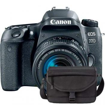 CANON EOS 77D + EF-S 18-55MM F/4-5.6 IS STM - Vista frontal con contrato VIP