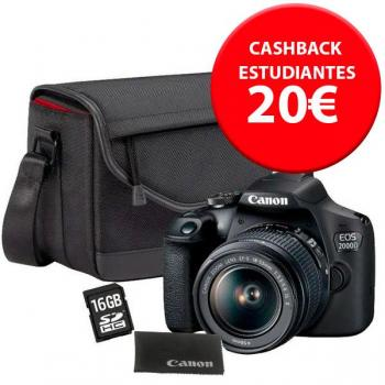 Canon EOS 2000D + EF-S 18-55mm IS + travel kit - Kit completo