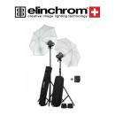 FLASH ESTUDIO KIT 2 FLASH ELINCHROM D-LITE RX ONE CON PARAGUAS