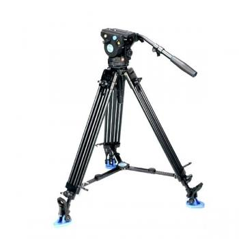 BENRO KIT TRIPODE VIDEO DOBLE TUBO ALUMINO BV4